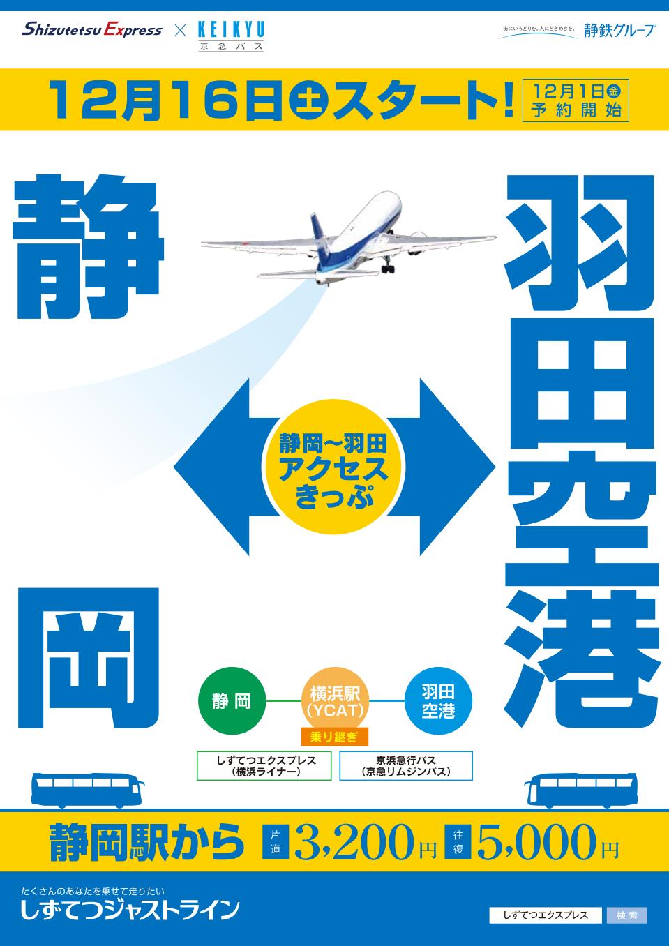「静岡~羽田アクセスきっぷ」表