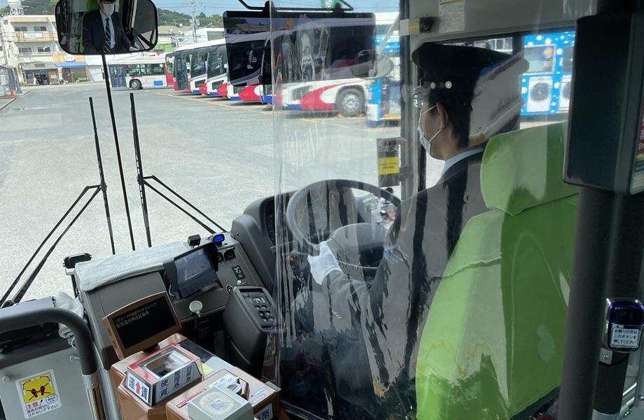 運転席飛沫防止シート