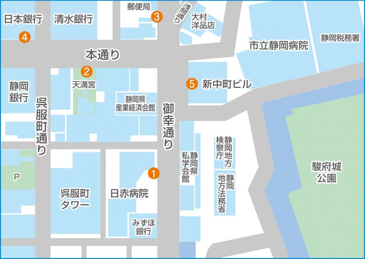 中町構内マップ