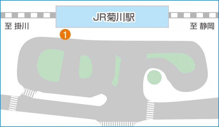 JR菊川駅構内マップ