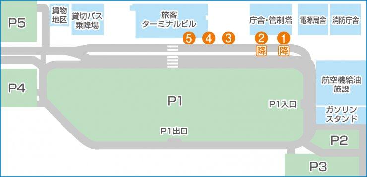 富士山静岡空港構内マップ