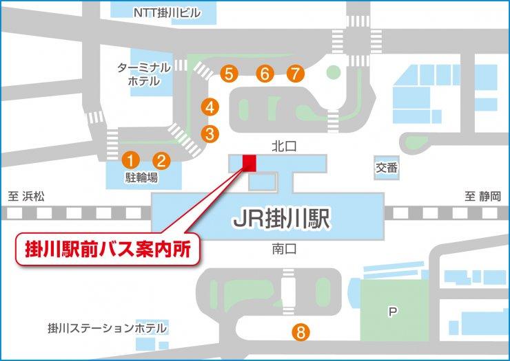JR掛川駅構内マップ